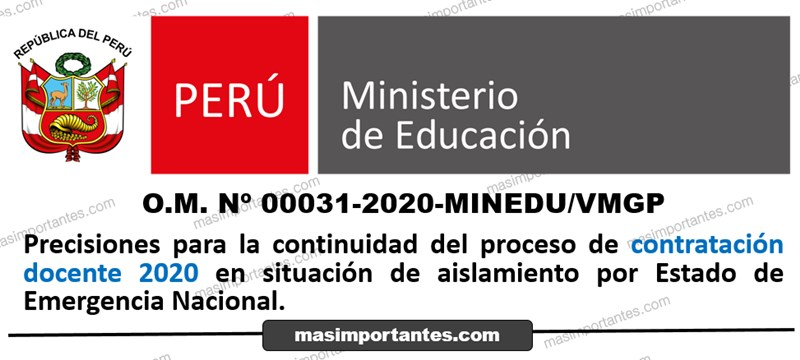 contrato docente 2020 estado de emergencia