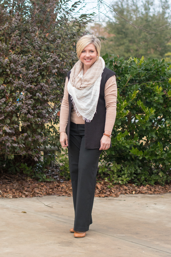 Pairing neutrals for a winter work outfit