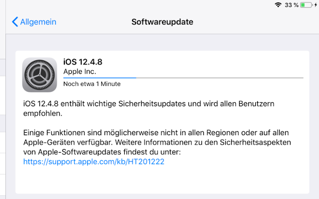 Apple releases iOS  12.4.8  - 16G201 for 21 iDevices. Check if your device is compatible