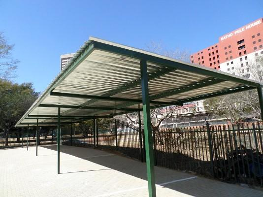 Flat Roof Carports Garankuwa Steel Metal Prices Designs