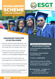 ESGT BENIN UNIVERSITY SCHOLARSHIP