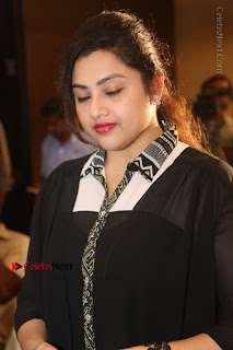 Tamil Actress Meena Latest Stills in Black Dress at TSR TV9 Awards Press Meet  0035.JPG
