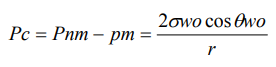 Gas Condensado - Presión Capilar