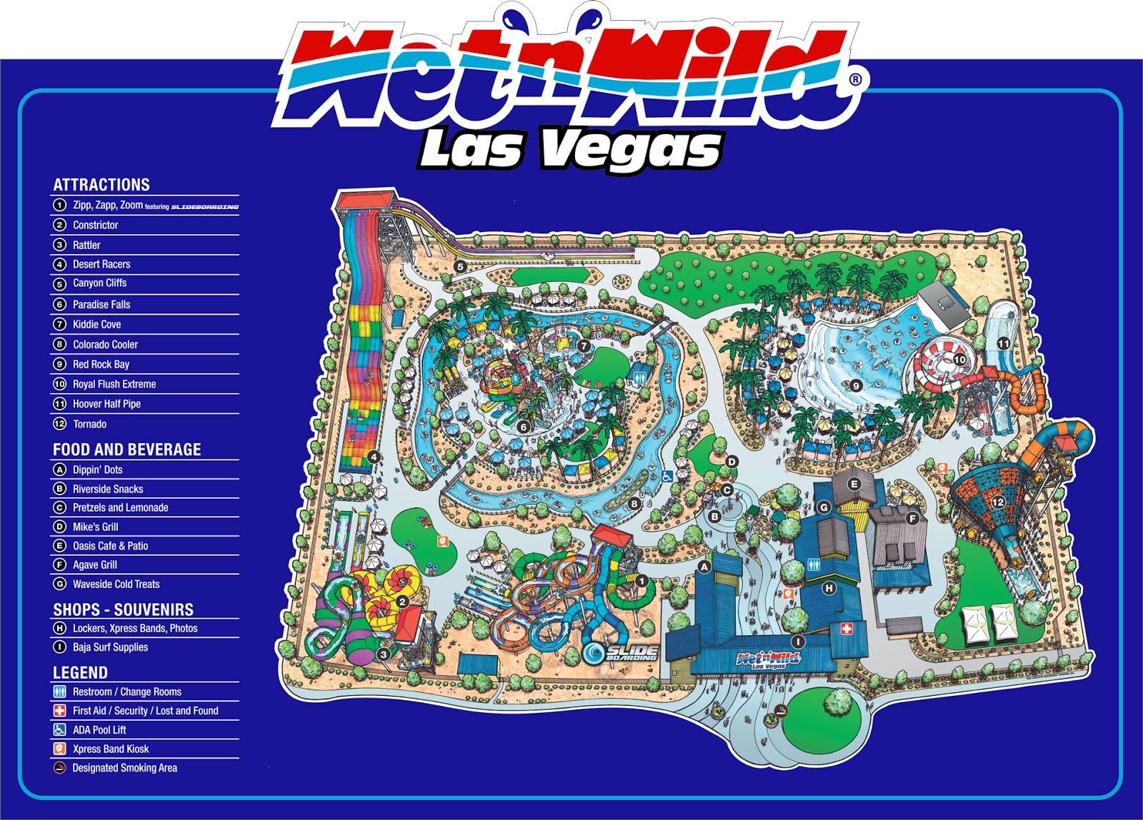 Wet N Wild Las Vegas Map.Kid Friendly Las Vegas Summer Guide To Wet N Wild Kid Friendly