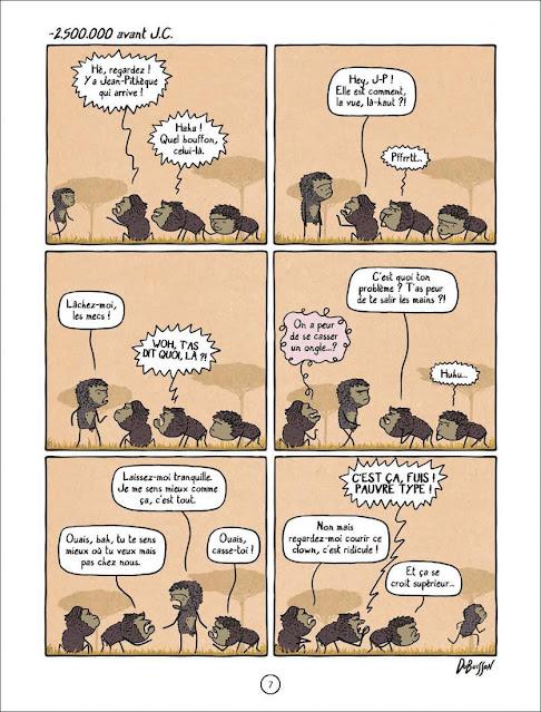 """page de """"A PEU PRESQUE"""" de Marc Dubuisson chez Delcourt"""