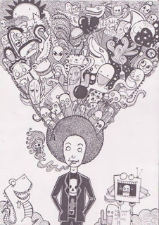 Doodle Art Head Explosion by Roby
