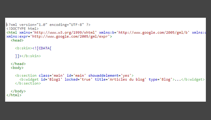 Yêu cầu tối thiểu của mẫu chủ đề XML Blogger