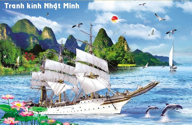 Tranh Kính Thuận Buồm Xuôi Gió