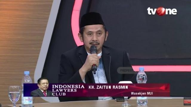 ILC Tegang! Ustadz Zaitun Rasmin: Umat Islam Akan Menuntut Kembali Piagam Jakarta Jika Pancasila Diutak-atik