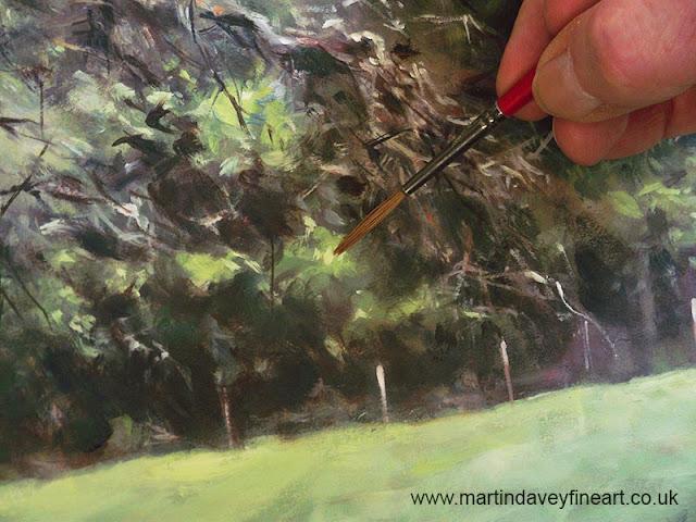 brush painting trees art Martin Davey