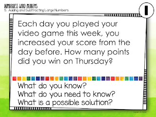 Runde's Room:  Numberless Word Problems