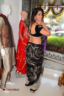 Actress Neetu Chandra Stills in Black Saree at Designer Sandhya Singh's Store Launch  0082.jpg
