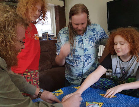 my family Playing P for Pizza Big Potato Games