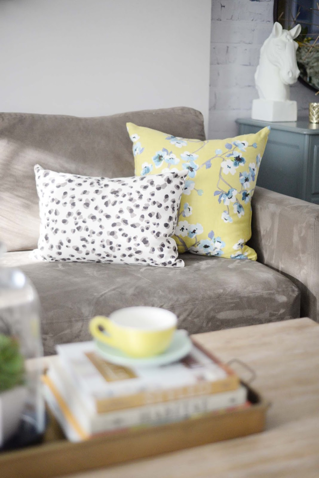 Wayfair Winter Refresh | Tonic Living Sakura Lulu Leopard pillow | RamblingRenovators.ca