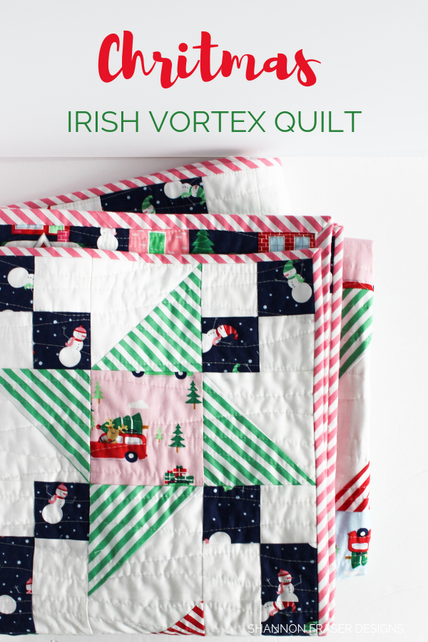 Christmas Irish Vortex Quilt by Shannon Fraser Designs