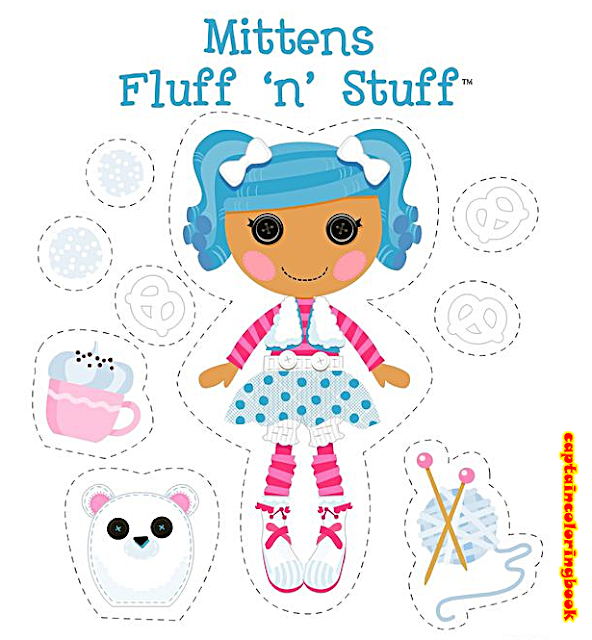 Lalaloopsy Paper Dolls Printable Coloring Page