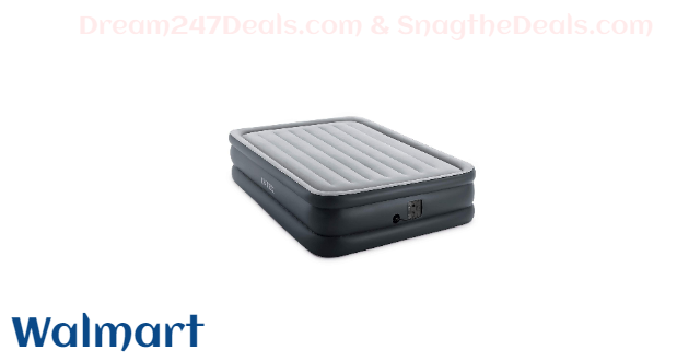 Intex 20in Queen Dura-Beam Essential Rest Airbed with Built-In Electric Pump