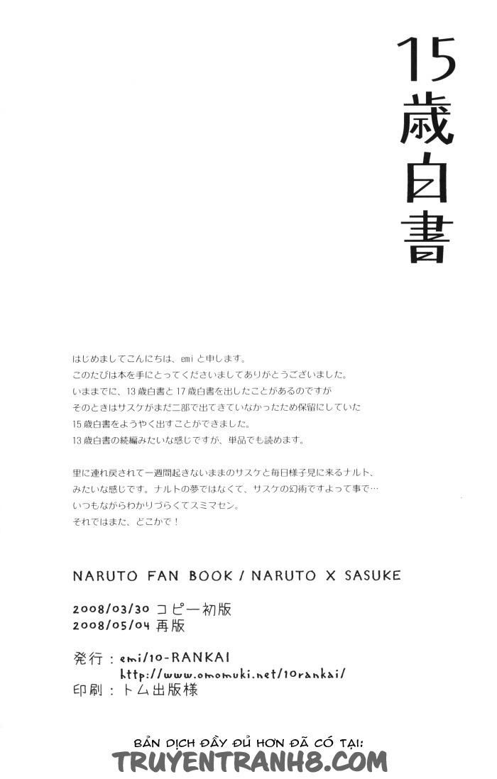 Trang 34 - Naruto Doujinshi - 15 Year-Old Report (- 10-Rankai) - Truyện tranh Gay - Server HostedOnGoogleServerStaging