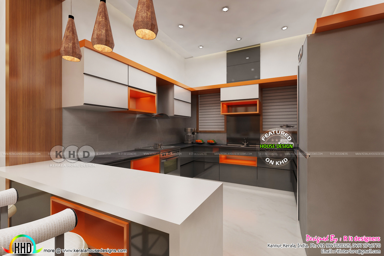 Dining With Open Kitchen And Living Room Kerala Home Design And Floor Plans 8000 Houses