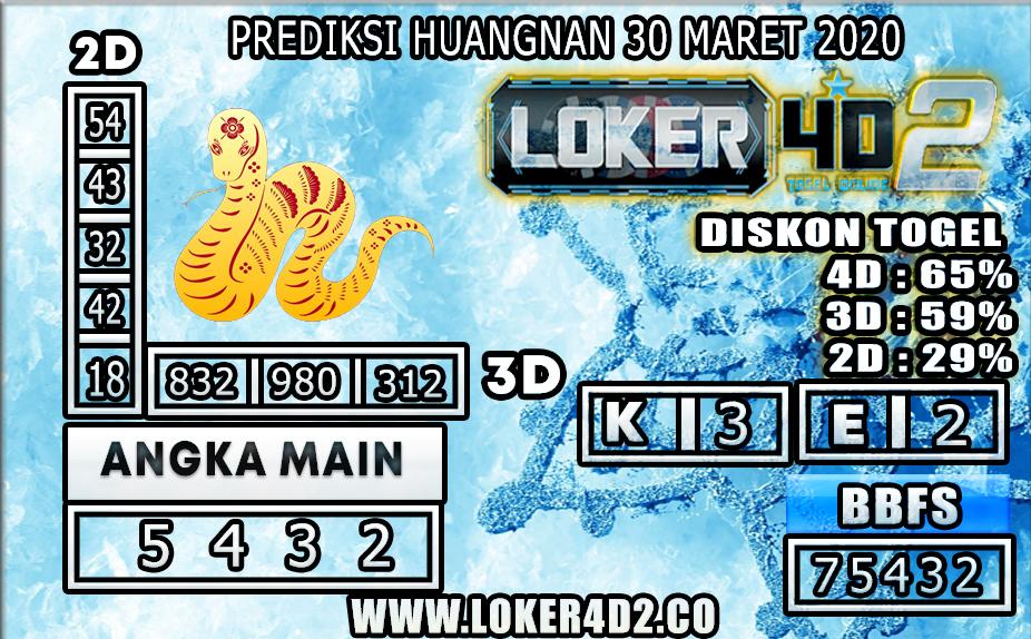 PREDIKSI TOGEL HUANGNAN LOKER4D2 30 MARET 2020