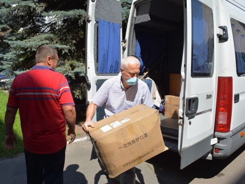 Місто Бровари отримало гуманітарну допомогу від Китаю