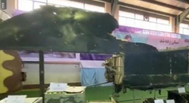 """إيران تعرض صورة جديدة لـ""""حطام"""" طائرة الـ""""درون"""" الأمريكية التي اسقطتها في يونيو"""