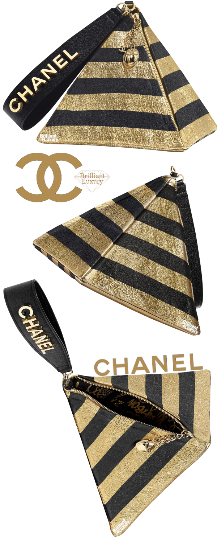 Brilliant Luxury♦CHANEL Lambskin and Gold-Tone Metal Pyramid Bag