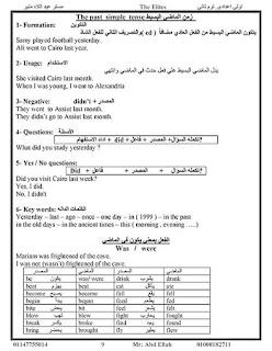 مذكرة انجليزى للصف الاول الاعدادى ترم ثانى 2020 للاستاذ عبد اللاه منير