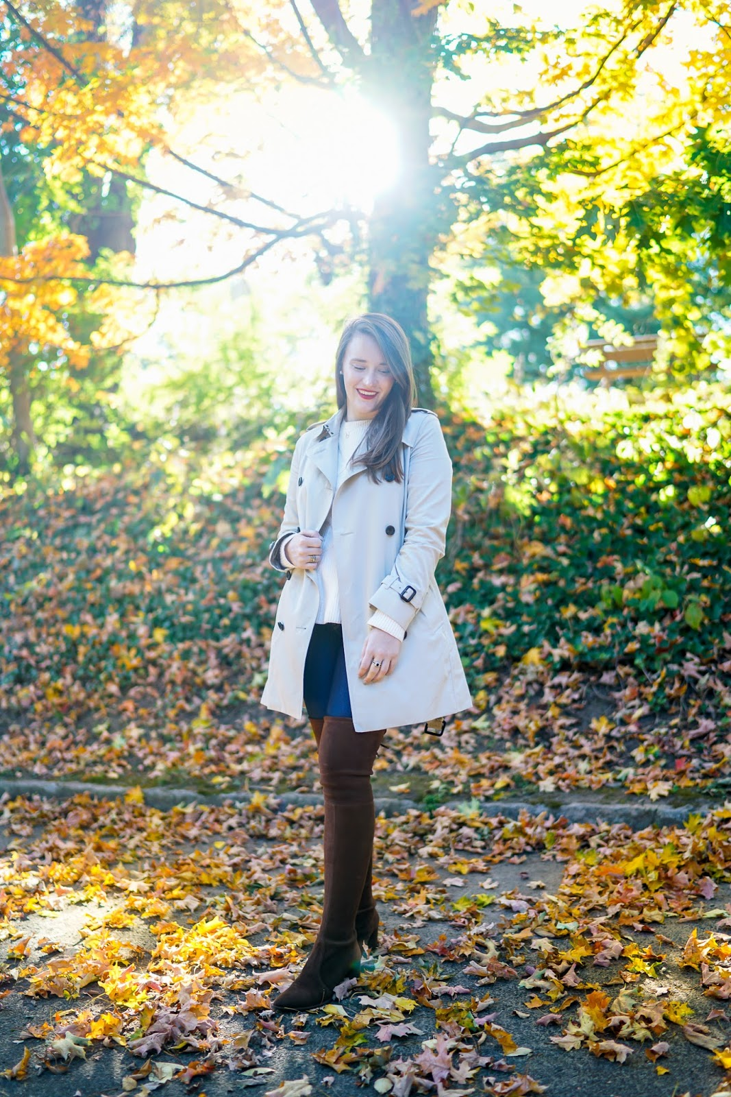 Krista Robertson, Fall Fashion, Fall in NYC, Covering the Bases, NYC blogger, Statement Trenchcoat