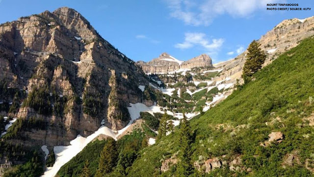 timpanogos peak with snow