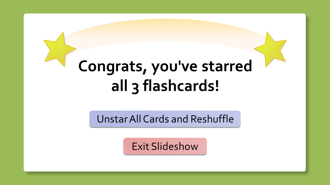 Flashcards for PowerPoint FlashcardsCongrats