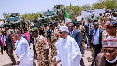 Watch Video: Borno Residents Boo Buhari