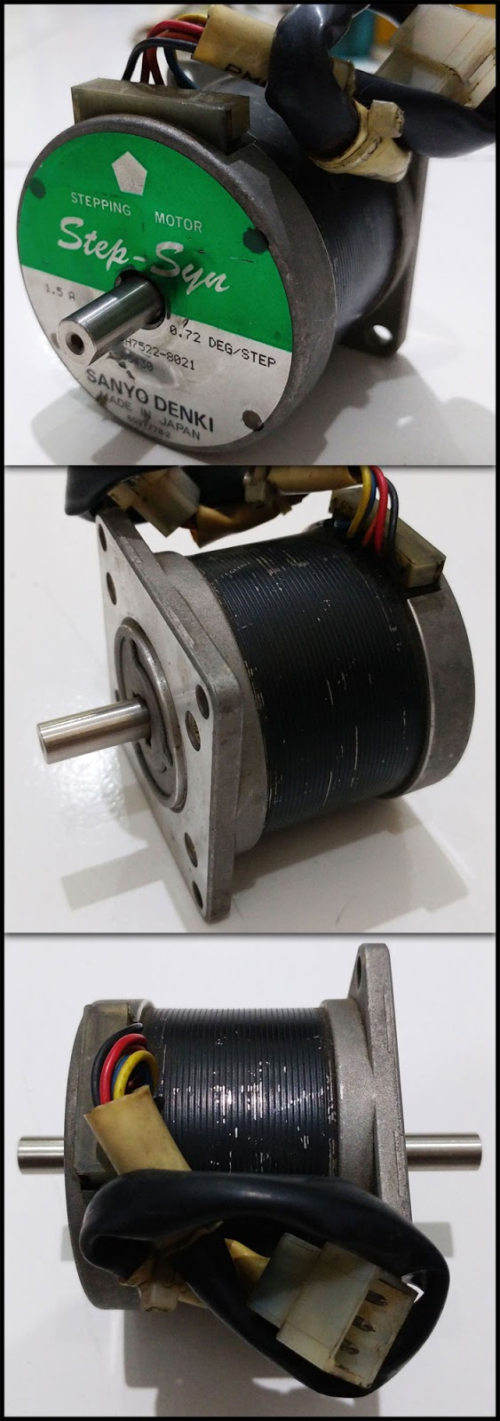 2nd machine 5 phase stepping motor 103h7522 8021 torsi for Step syn sanyo denki stepping motor datasheet