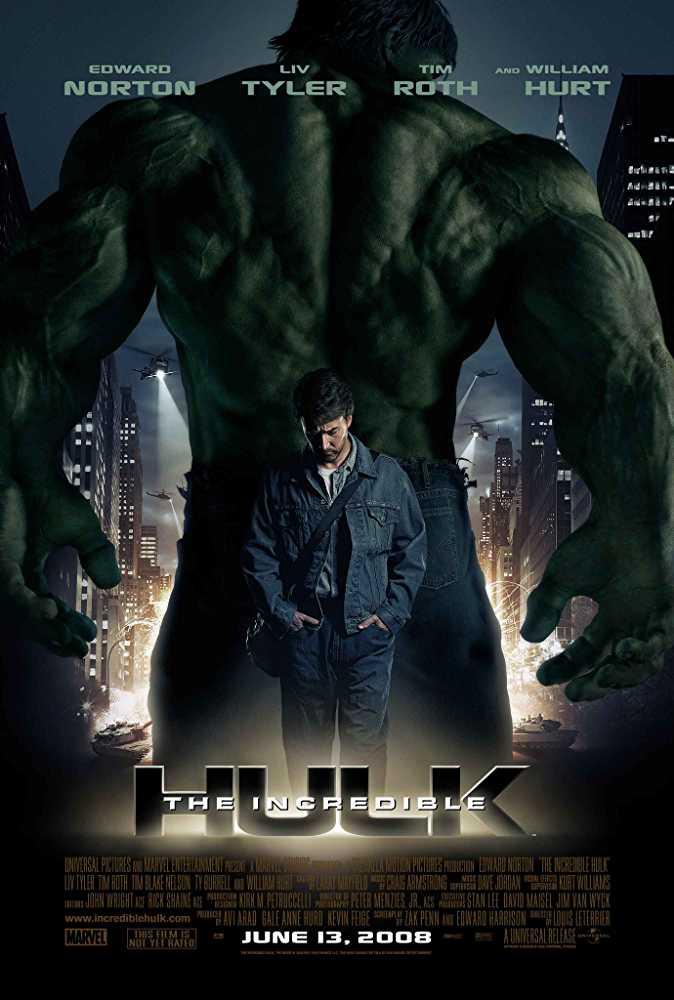 Poster The Incredible Hulk 2008 English 720p