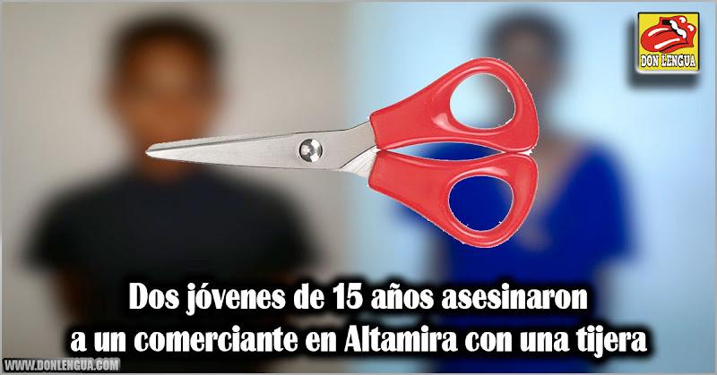 Dos jóvenes de 15 años asesinaron a un comerciante en Altamira con una tijera