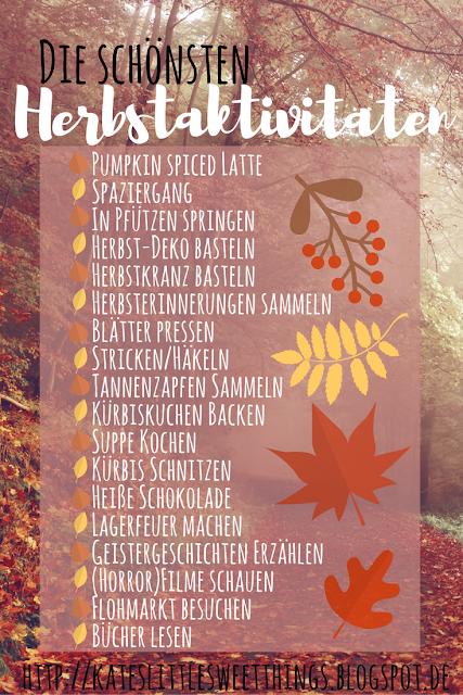 Schöne Ideen gegen die Langeweile an kalten Herbsttagen.