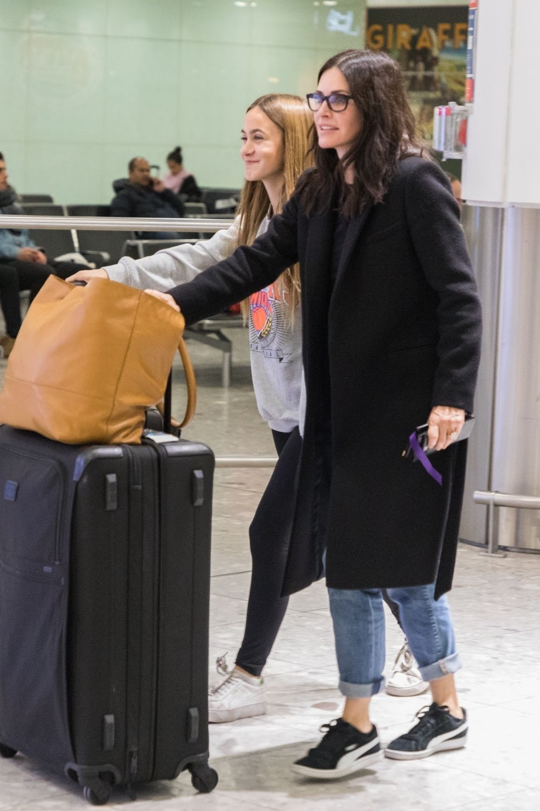 Courteney Cox at Heathrow Airport in London