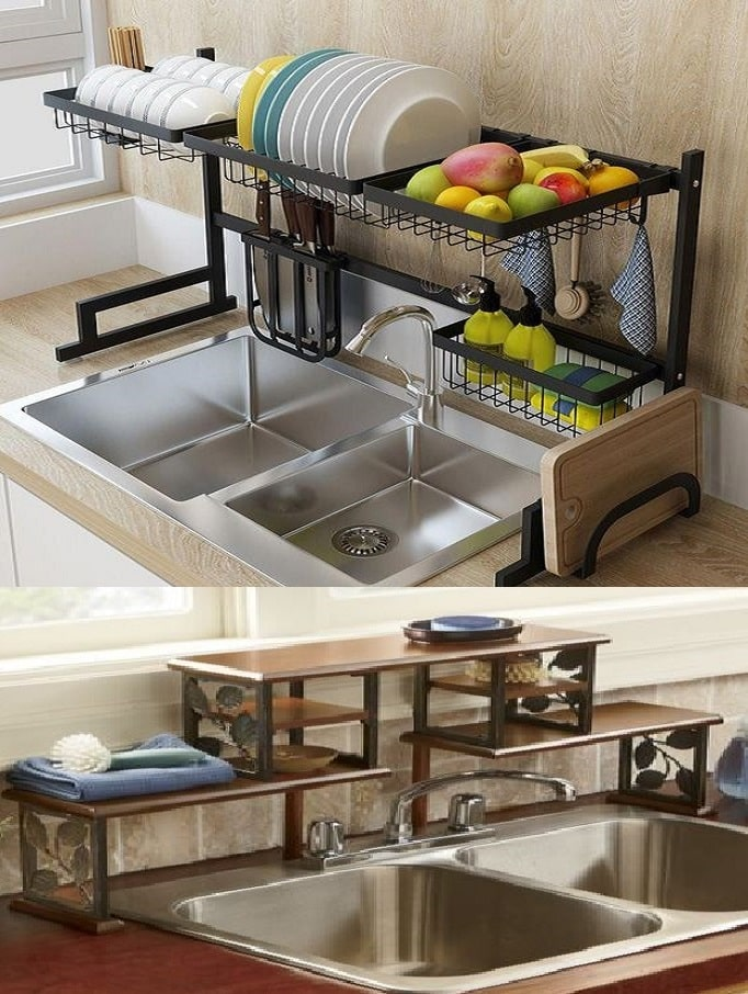 Top 15 kitchen sink rack design ideas for storage