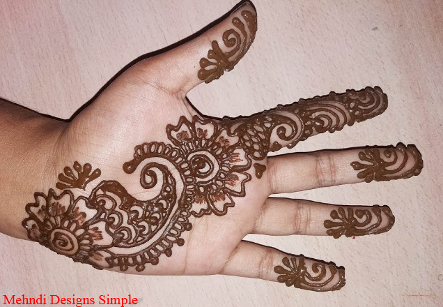 Mehndi Designs Simple Front Hand Step By Step Mehndi Designs Simple