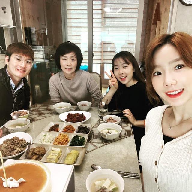 snsd taeyeon family