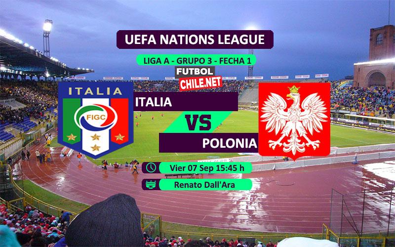 Mira Italia vs Polonia en vivo y online por la primera fecha del grupo 3 de la Liga A de UEFA Nations League