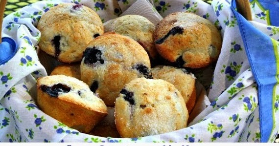 Easy Blueberry Muffins {Locally Grown Texas Blueberries}