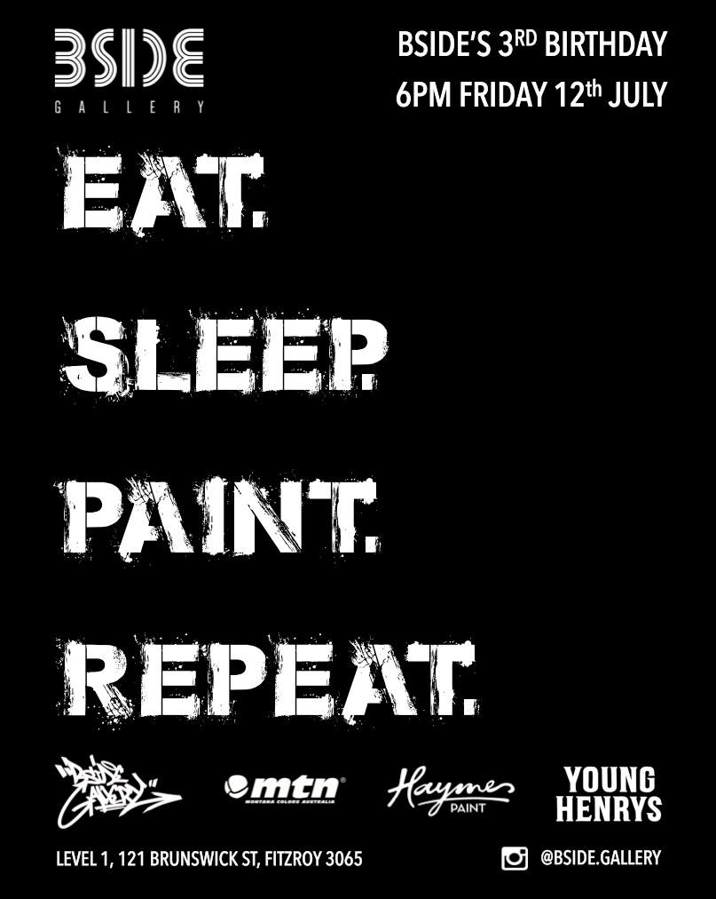 Eat. Sleep. Paint. Repeat. BSIDE's 3rd B'day Group Exhibition