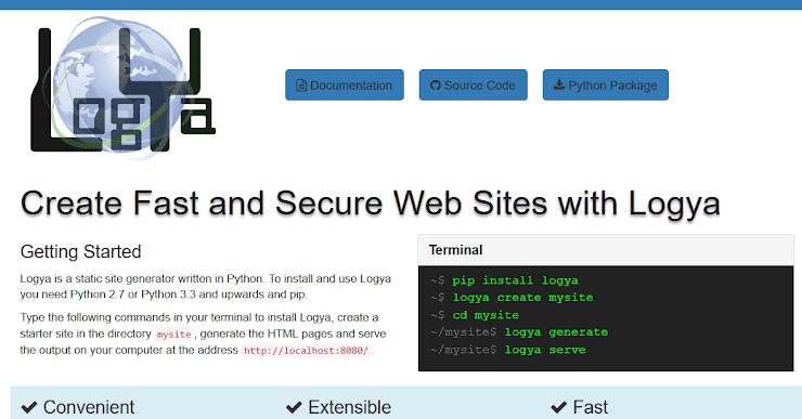 Logya static website platform