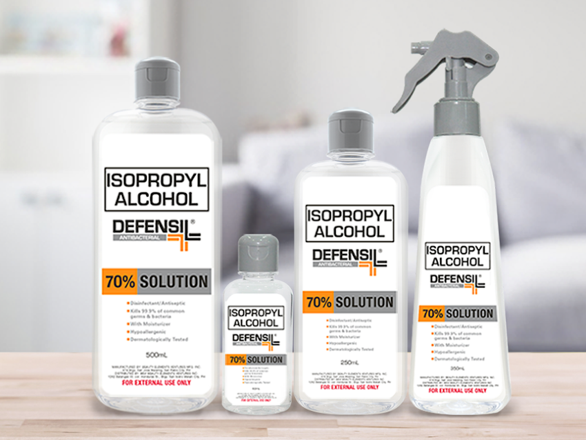 Be Safe Now! Get Your Defensil Isopropyl Alcohol from the Official Shopee & Lazada Stores