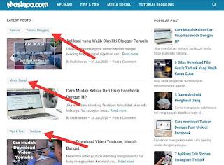 cara menambahkan label pada artikel blog