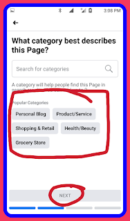 How to select category for page