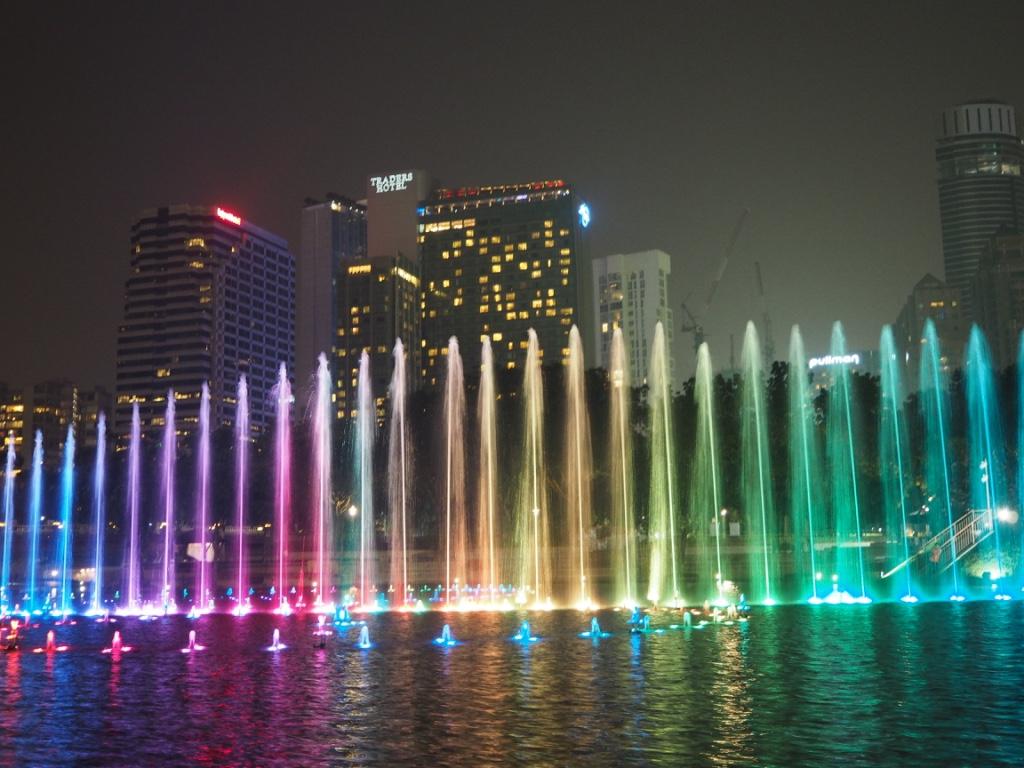 petronas towers klcc park fountains