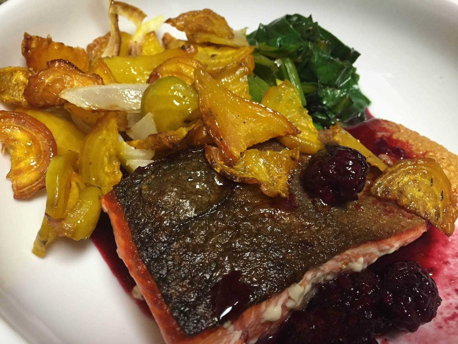 A Food Dilettante 39 S Musings Crispy Skin Salmon And
