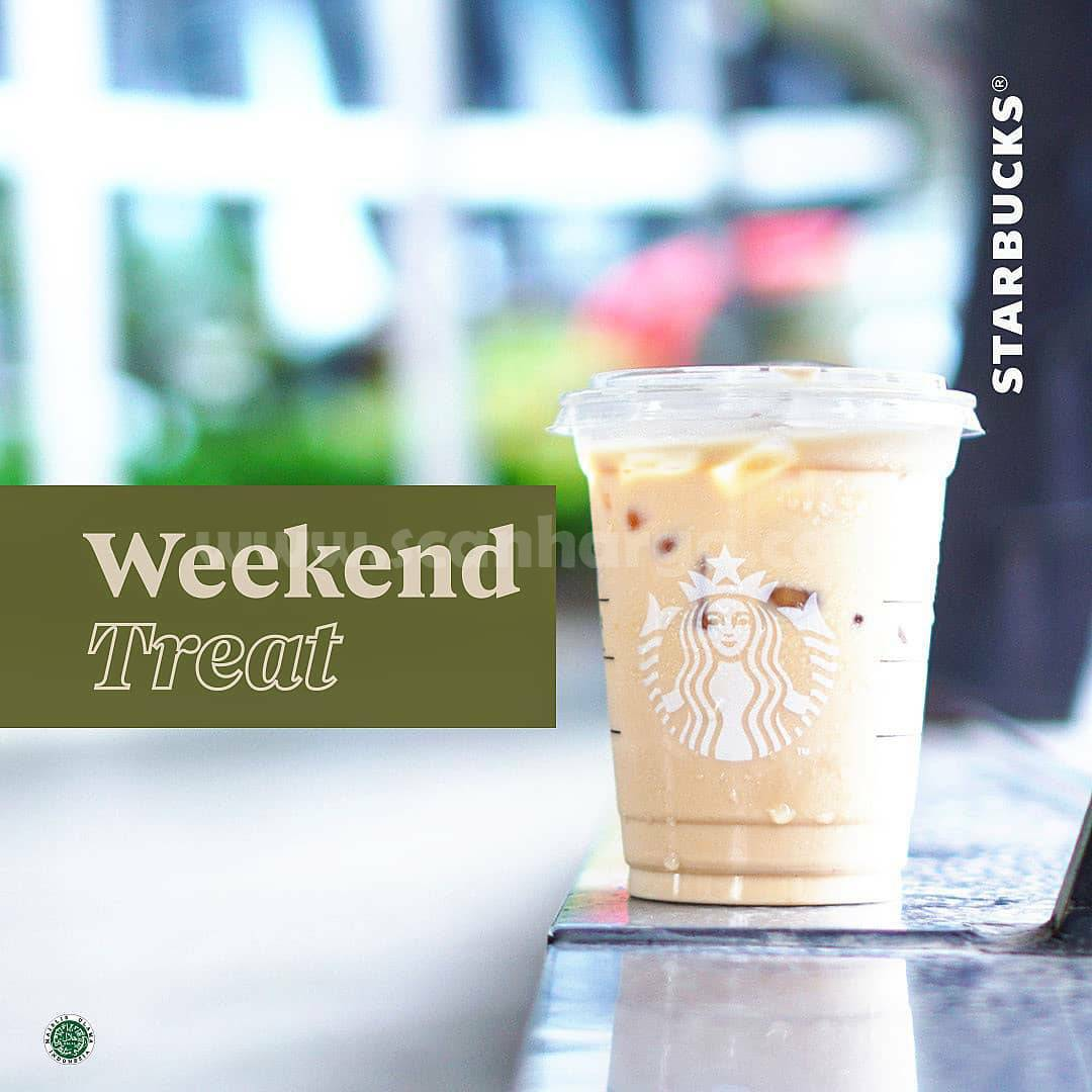 Starbucks Weekend Treat Spesial Diskon 30% Minuman